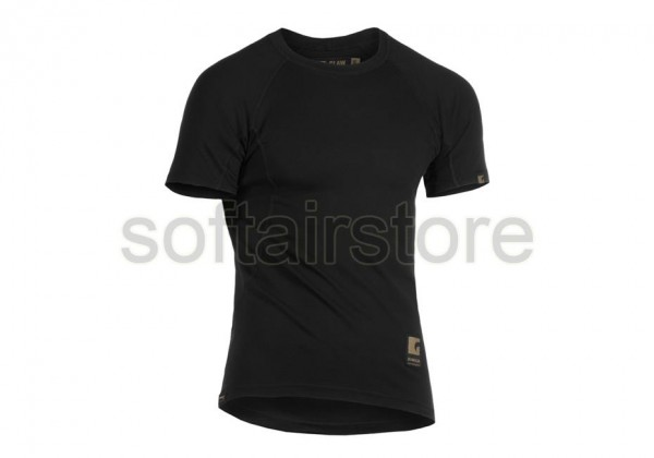 Baselayer Shirt Short Sleeve Schwarz