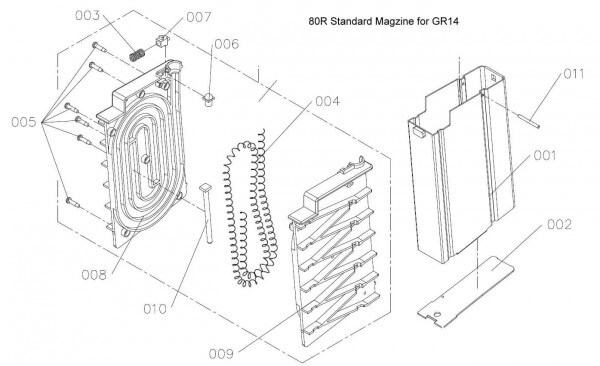 Pin for GR14 80R magazine (Part #7)
