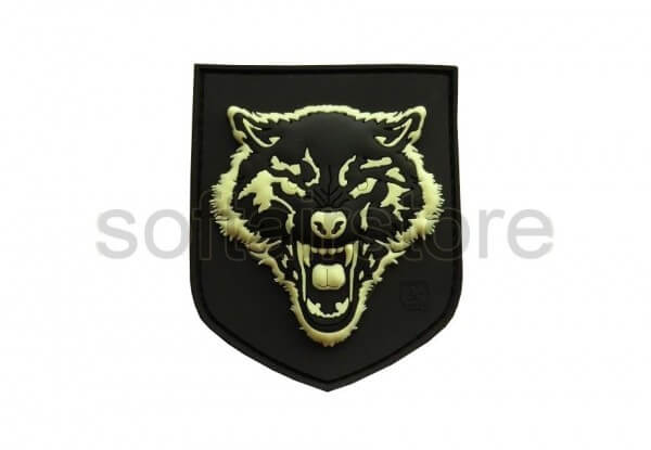 JTG - Small Wolf Patch, gid (glow in the dark)