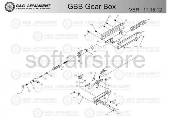 Spare Part #020 for CM16 GBB Gearbox