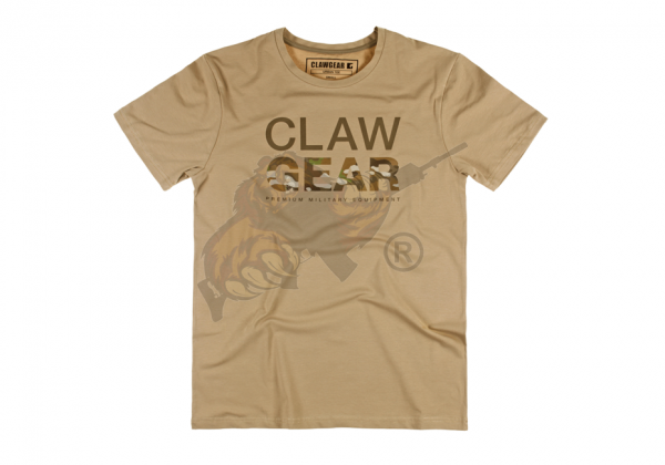 Claw Gear Tee - T-Shirt in Khaki