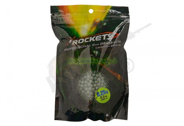 Rockets Professional Airsoft Bio BB`s 0.25g (2.000 Stück) - Dark Green