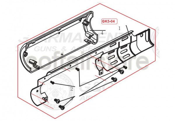 GK5-04 Part number 4 for the GF76L from G&G