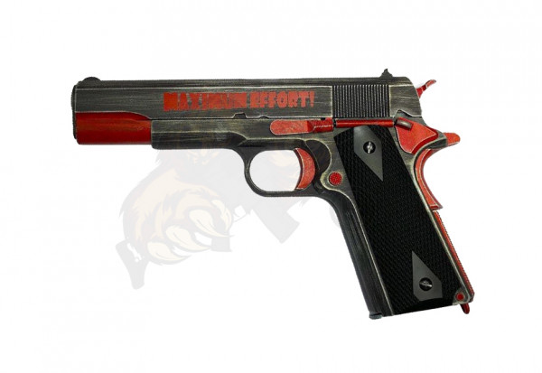 M1911 GBB Pistol in Black/Red -F-