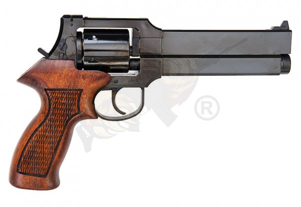 Marushin Mateba Revolver 6mm X-Cartridge Series w deep Black Wood Grip Version -F-