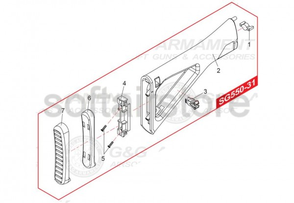 Spare Part SG550-31 for the SG552 from G&G