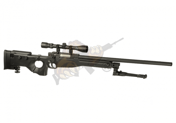 AW .338 Sniper Rifle Set Upgraded Airsoft Black - Well -F-