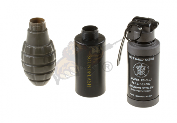 Thunder-B Sound Grenade Set Gen. II Pineapple, Soundflash und Flash Bang