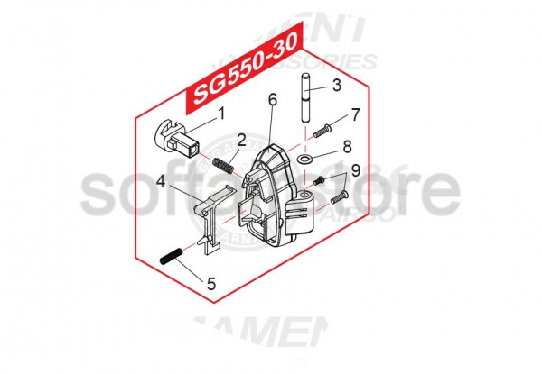 Spare Part SG550-30 for the SG552 from G&G