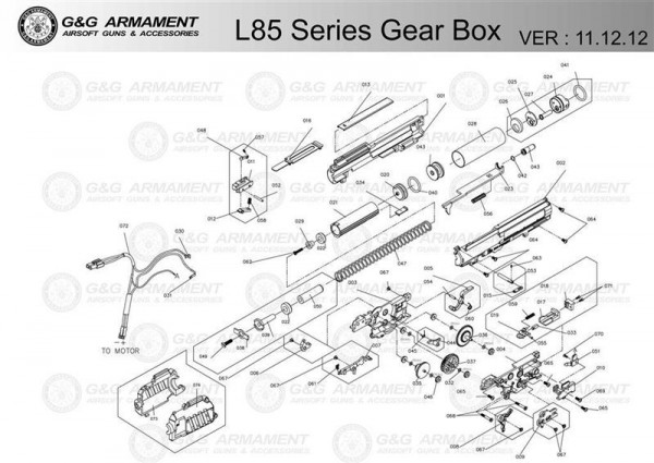 Gearbox Part 011 for L85 from G&G