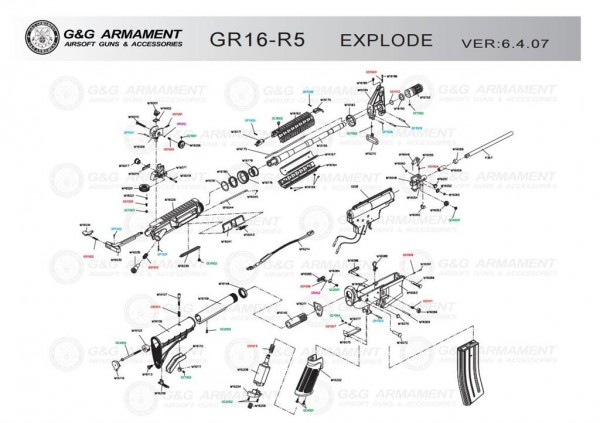 Spare Part M16171 for the GR16-R5 from G&G
