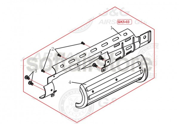 GK5-03 Part number 4 for the GF76L from G&G