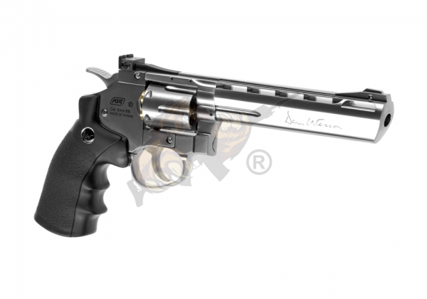 Dan Wesson Silver 6 Inch Revolver Full Metal Co2 -F-