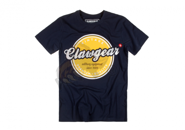 Claw Gear Vintage Tee - T-Shirt in Navy