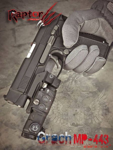 Grach MP-443 GBB Deluxe Version Airsoft - Raptor