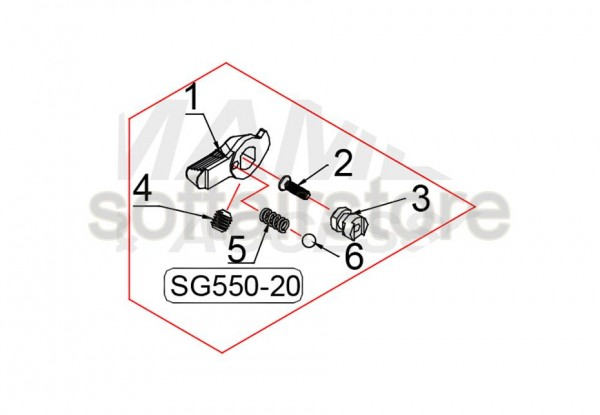 Spare Part SG550-20 for the SG550 from G&G