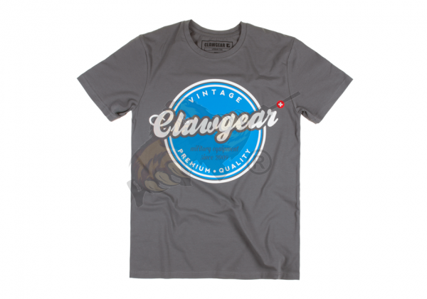Claw Gear Vintage Tee - T-Shirt in Grey
