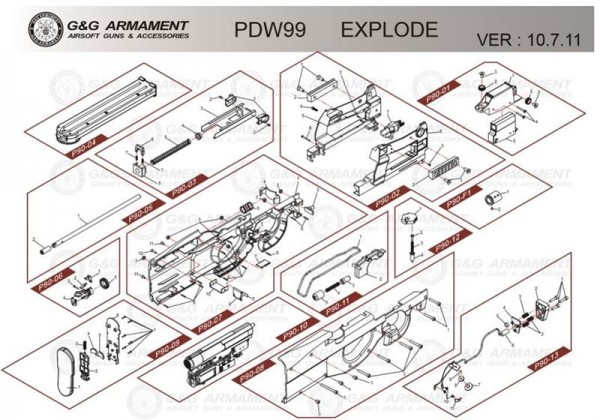 Part P90-06 for the PDW99 from G&G (entspricht G-20-010)