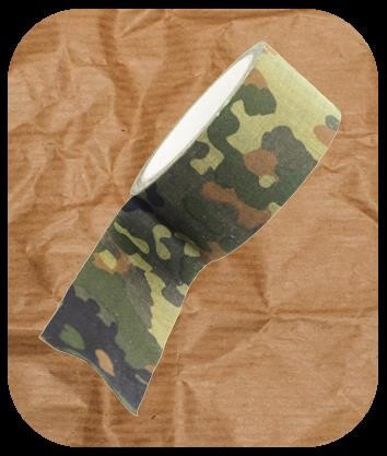 Textilklebeband - Cloth Camo Tape - Flecktarn