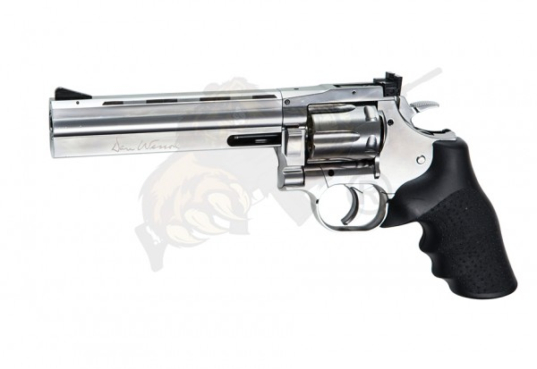 Dan Wesson 715 Silver 6 Inch Revolver Full Metal Co2 -F-, low power