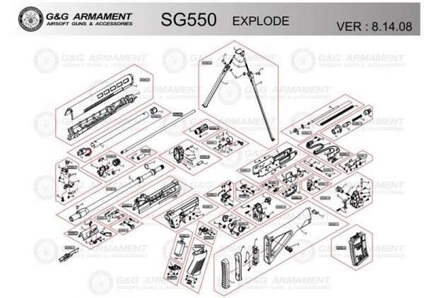 Spare Part SG550-20 #4 for the SG550 from G&G