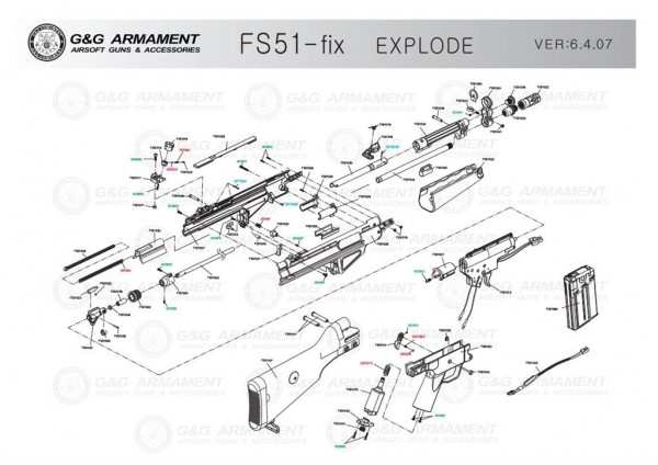 Rear cover for FS51 from G&G (Part FS51007)
