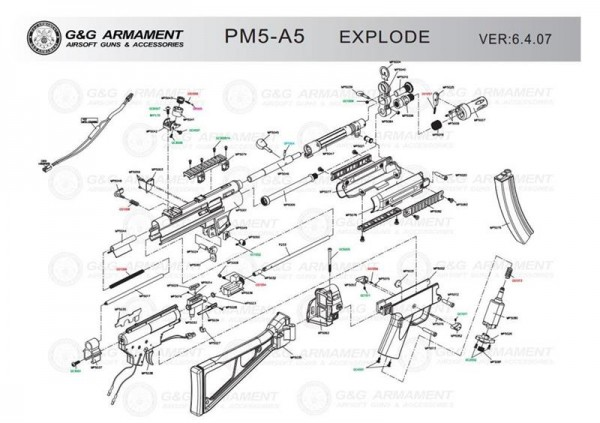 Spare Part MP5047 PM5 from G&G