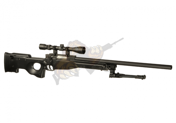 L96 Sniper Rifle Airsoft Set Upgraded Black - Well -F-