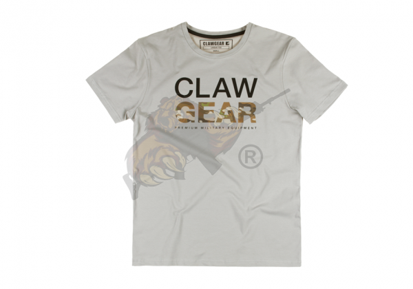 Claw Gear Tee - T-Shirt in Light Grey
