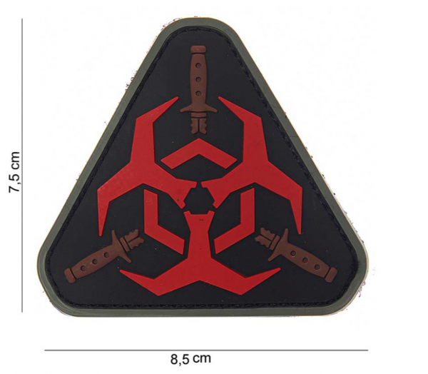 3D Rubber Patch *3 Outbreak Response Team - BLACK/RED