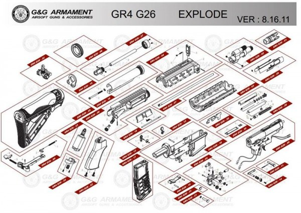 Part GR4 G26-06 for das G26 from G&G