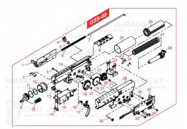spring for anti-reversal latch for the GSS from G&G